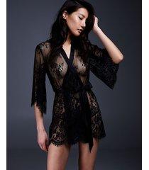 hunkemöller kimono lace isabelle svart