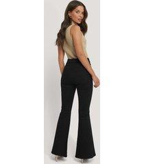 dr denim macy flared jeans - black