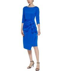jessica howard petite ruffle-detail sheath dress