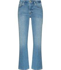 le cropped mini boot jeans
