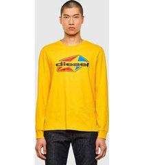 polera t diegos ls k41 t shirt amarillo diesel