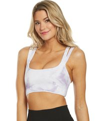 free people women's on the radar tie dye yoga sports bra - lavender x-small/small spandex