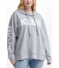 calvin klein jeans plus size logo french terry hoodie