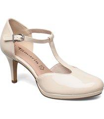 woms slip-on shoes heels pumps classic grå tamaris