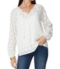 nydj peasant blouse