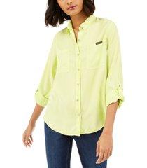 calvin klein jeans tencel button-down shirt