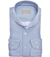 john miller overhemd tailored fit navy dessin