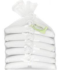 kit de cabides cuca criativa piquet branco - tricae