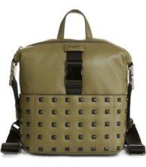 dkny styla studded leather backpack