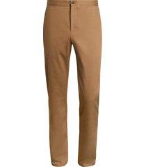 saks fifth avenue men's collection modern-fit drawstring pants - camel - size l