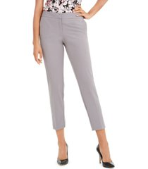 nine west cropped mid-rise slim-fit pants