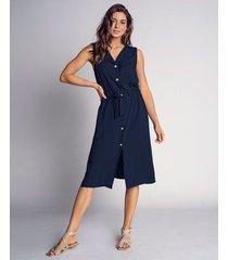 exterior vestido azul leonisa f5834
