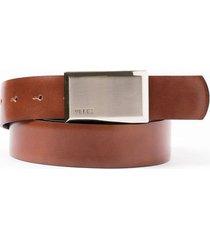 cinturón doble faz de cuero chapa