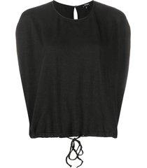 aspesi drawstring sleeveless top - black