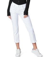 women's paige brigitte crop boyfriend jeans, size 30 - white