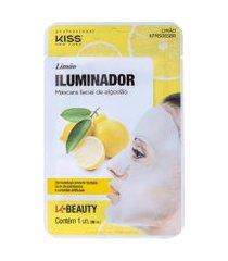 kiss new york limão iluminador máscara facial 20ml