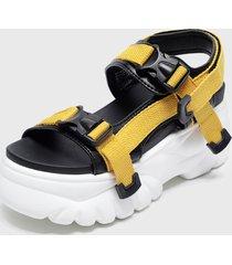 sandalia amarillo chalada