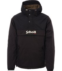 schott nyc husky 18 smock jacket - black