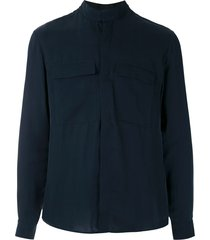 egrey double collar shirt - blue