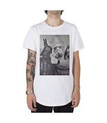 camiseta longline stoned star wars selfie branco