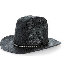 women's saint laurent studded cowboy straw hat -