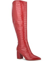 marc fisher retie knee-high boots women's shoes