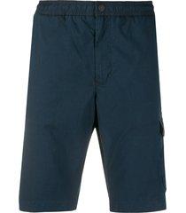 tommy hilfiger cargo-pocket bermuda shorts - blue