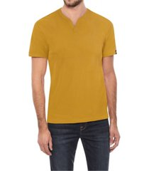 x-ray men's soft stretch slit v-neck t-shirt