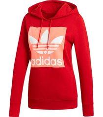 buzo rojo adidas originals hoodie