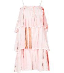 lemlem draped beach dress - white