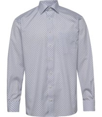 blue medallion poplin shirt skjorta business blå eton