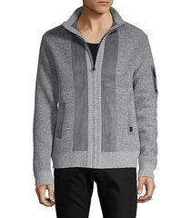 textured full-zip jacket