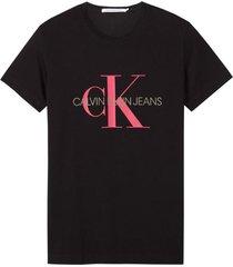 polera monogram logo slim  negro calvin klein