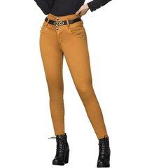 jeans colombiano control de abdomen amarillo bartolomeo