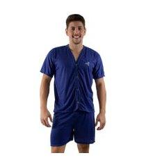 pijama linha noite de botáo azul