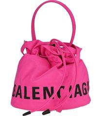 balenciaga wheel drawstring bag