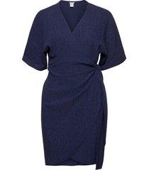dress mom lisen knälång klänning blå lindex