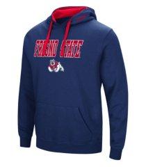 colosseum fresno state bulldogs men's arch logo hoodie