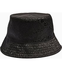 black satin jacquard bucket hat - black
