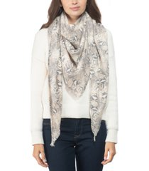 inc snake-embossed soft triangle scarf, created for macy's