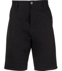 g-star raw straight-leg cotton shorts - blue