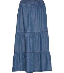 skirt medium length casual knälång kjol blå betty barclay