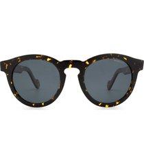 moncler moncler ml0175 dark havana sunglasses