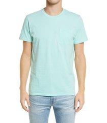 men's bonobos stripe pocket t-shirt, size x-large - green