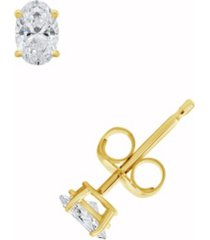 certified oval diamond stud earrings (1/2 ct. t.w.) in 14k white gold or yellow gold