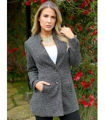 abrigo primera dama outfit 6010 para mujer negro