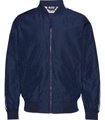 sleeve-stripe bomber jacket bomberjacka jacka blå hollister