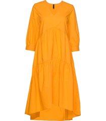 yasradhika 3/4 midi dress s. knälång klänning gul yas