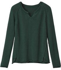 gebreide trui van puur bio-katoen, salie 44/46