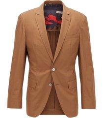 boss men's hartlay1 dark brown jacket